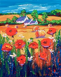 Summer Fields by Lynn Rodgie - Original Painting on Stretched Canvas sized 16x20 inches. Available from Whitewall Galleries